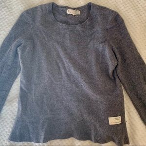 Odd Molly Peplum Sweater 100% Cashmere Wool